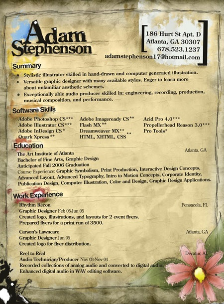 adamstevenson 20 Creative Resume Designs Which Will Amaze Any Potential Employer