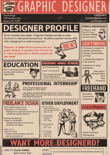 creative resume chuckdlay grahic designer - Creative Computer Science Resume