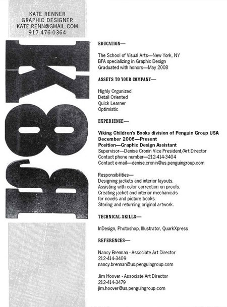 katerennar 20 Creative Resume Designs Which Will Amaze Any Potential Employer