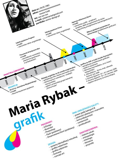 mariarybook 20 Creative Resume Designs Which Will Amaze Any Potential Employer