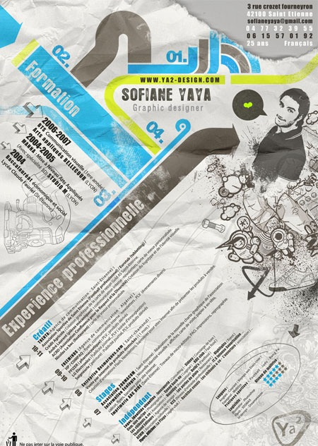 sofiane 20 Creative Resume Designs Which Will Amaze Any Potential Employer