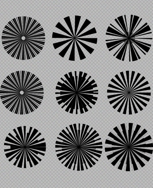 starbusrtpreview Star Burst Vector And Photoshop Brush Set