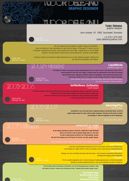 tudordealu 20 Creative Resume Designs Which Will Amaze Any Potential Employer