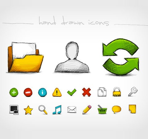 handdrawnicons 25 Best Fresh Icon Sets From 2011 All In One Place