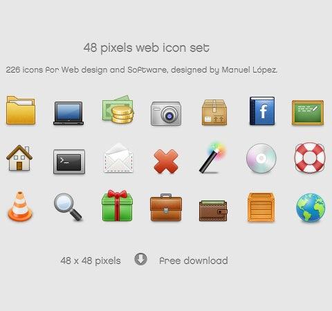 pixel-web-icon-set