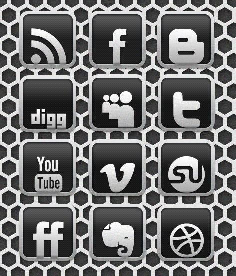 carbonchromepreview Carbon Chrome Social Media Icon Set