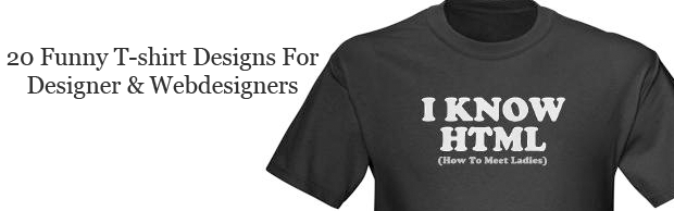 20 Funny T-shirt Designs For designers And Web designers ...