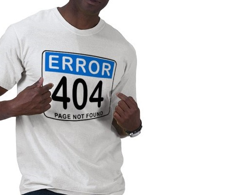 error404 20 Funny T shirt Designs For designers And Web designers