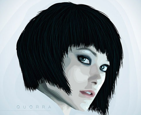 portait 40 Fresh Illustrator Tutorials From 2011