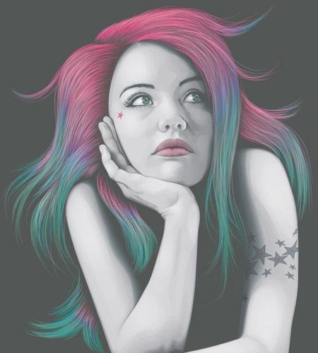portaitusingfourcolours The Best Illustrator tutorials for Creating Detailed Portrait Illustrations