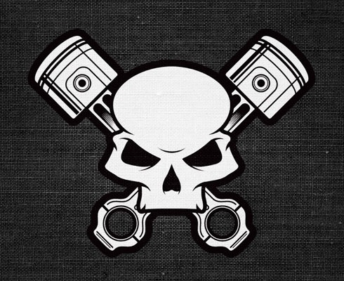 skullbadge 40 Fresh Illustrator Tutorials From 2011