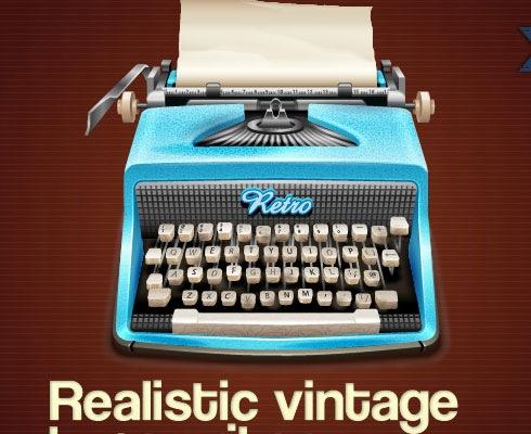typewriter 40 Fresh Illustrator Tutorials From 2011