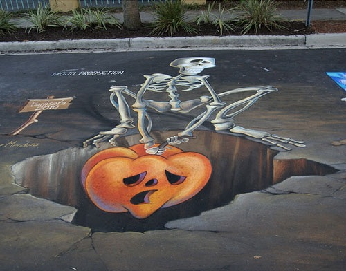 chalk-skelington