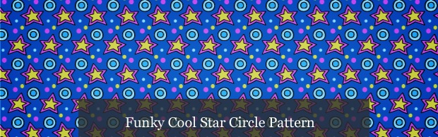 funkystartcirclepatternnbanner Funky Cool Star Circle Photoshop And Vector Pattern