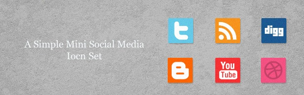 simpleminiiconsetbanner A Free Mini Simple Social Media Icon Set
