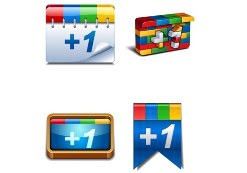 3d-google-plus-icons