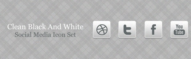 cleanicons Clean Black And White Social Media Icon Set