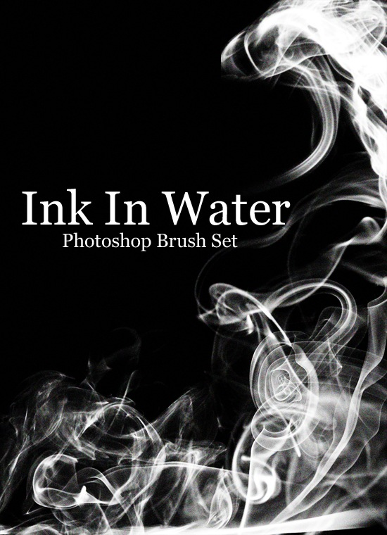 inkinwaterphotoshopbrush A Free Ink In Water Photoshop Brush Set