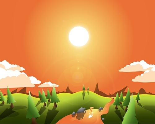 landscape 20 Tutorials To Fall In love With Illustrator