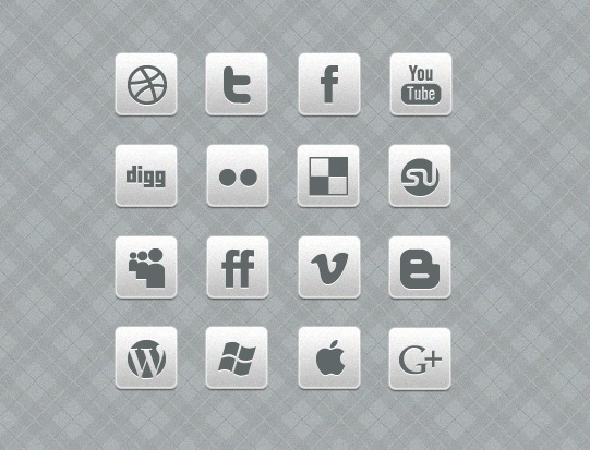 miniwhiteandblackiconset Clean Black And White Social Media Icon Set