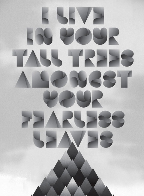 talltree 20 Truly Beautiful Typography Poster Designs