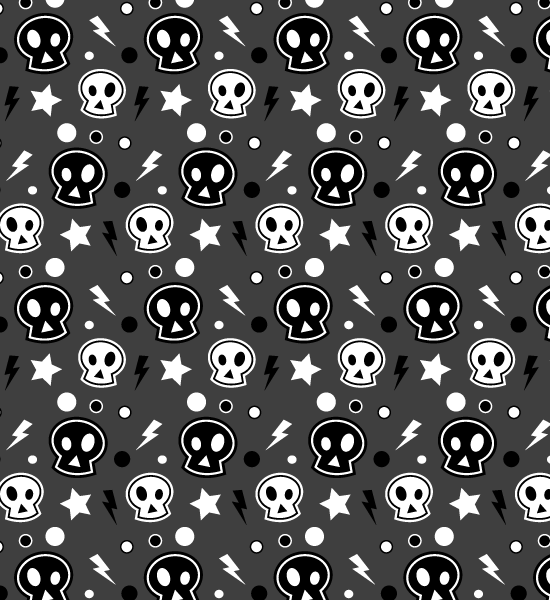 funkydarkskullpattern Funky Skull Halloween Seamless Photoshop And Illustrator Pattern