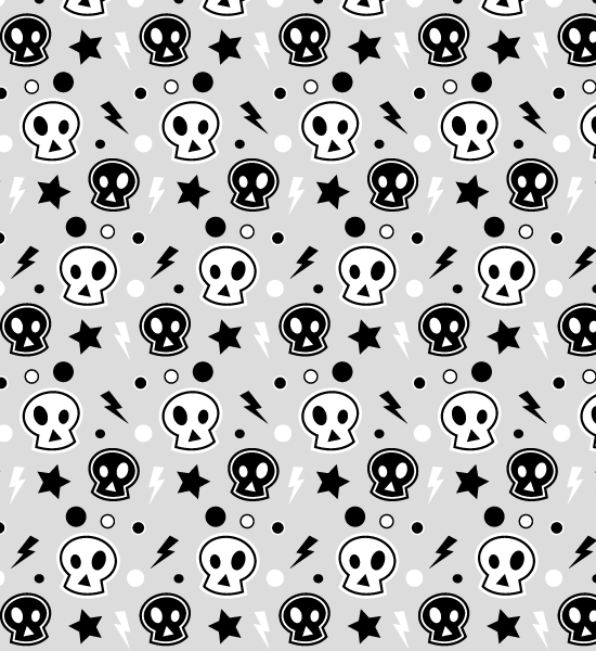 funkyskullpattern Funky Skull Halloween Seamless Photoshop And Illustrator Pattern