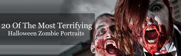 halloweenzombieportaits 20 Of The Most Terrifying Halloween Zombie Portraits