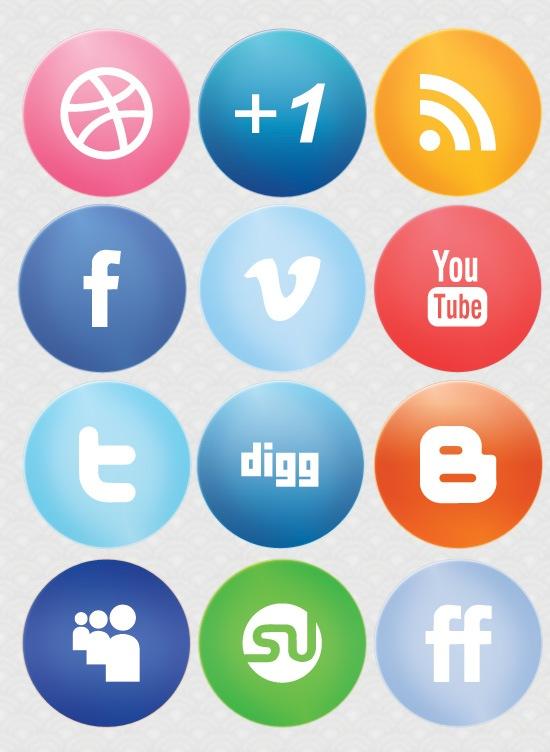 social media logos. preview large-glossy-social-media-icons social media logos c