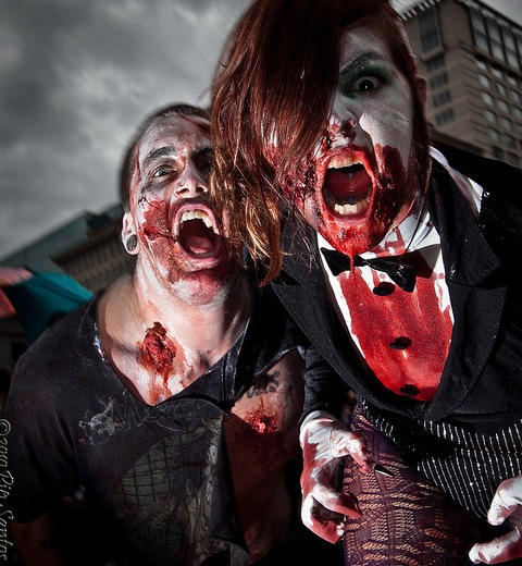 portlandzombie 20 Of The Most Terrifying Halloween Zombie Portraits