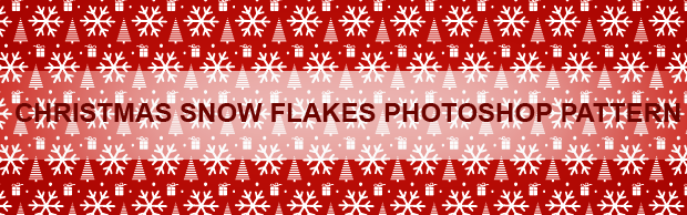 christmassnowflakesbanner Christmas Trees And Snowflakes Photoshop Pattern