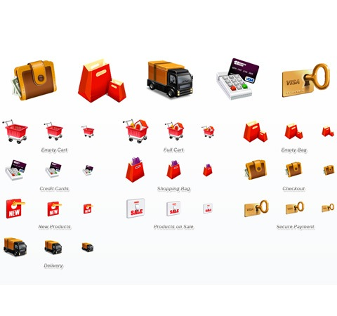 ecommerce3dicons 50 Of The Best Free Icon Sets From 2011