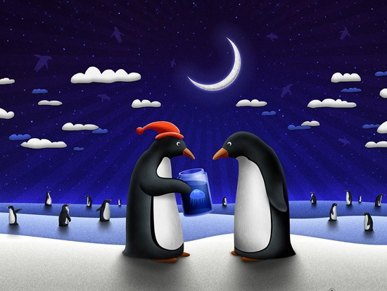 penguinchrsitams A Great Collection Of Christmas Festive Themed Wallpapers