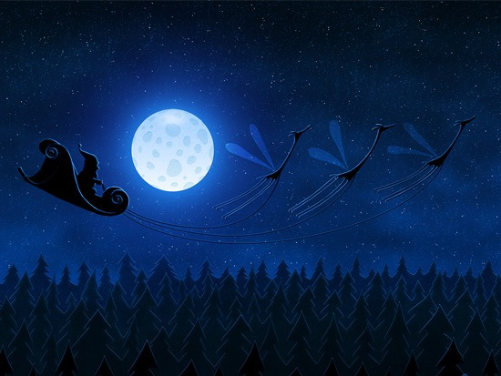 santaflying A Great Collection Of Christmas Festive Themed Wallpapers