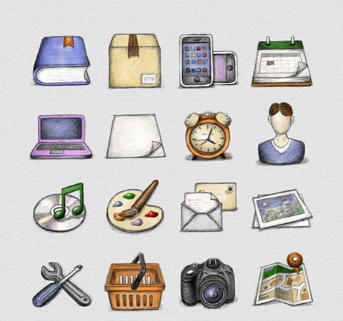 sketchedicons 50 Of The Best Free Icon Sets From 2011