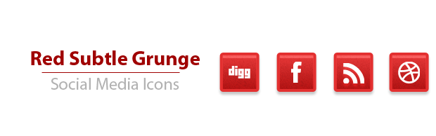 subltegrungeicons A Simple Subtle Red Grunge Social Media Icons