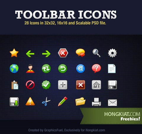 toolbaricons 50 Of The Best Free Icon Sets From 2011