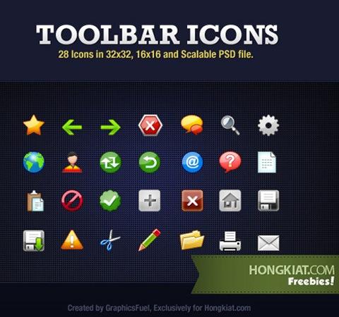 """toolbaricons 50 Of The Best Free Icon Sets From 2011 দুর্দান্ত ৫০ সেট """"আইকন"""" হাজার হাজার আইকন ফ্রীতে ডাউনলোড"""