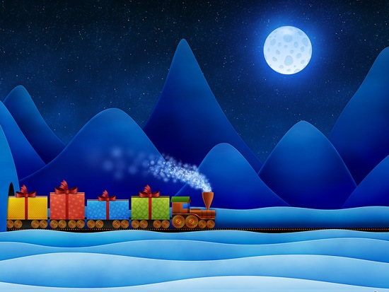 train A Great Collection Of Christmas Festive Themed Wallpapers