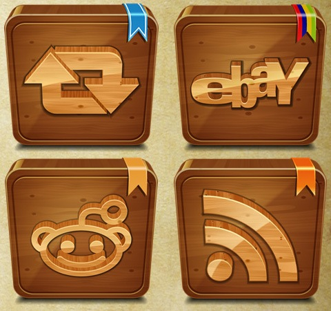 woodenicons 50 Of The Best Free Icon Sets From 2011