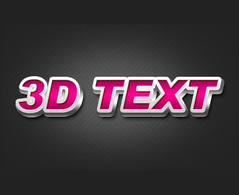 3dtext 40 Best Photoshop Tutorials From 2011