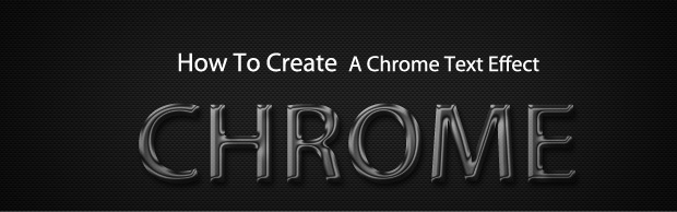 chrometextbanner How To Create A Quick And Easy Chrome Text Effect In Photoshop