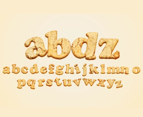 cookietypography 40 Best Photoshop Tutorials From 2011