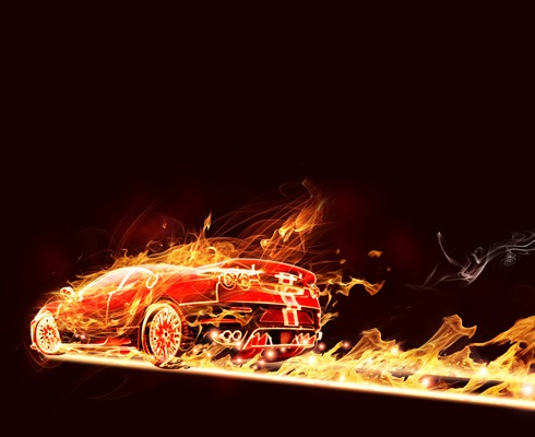 firecar 40 Best Photoshop Tutorials From 2011