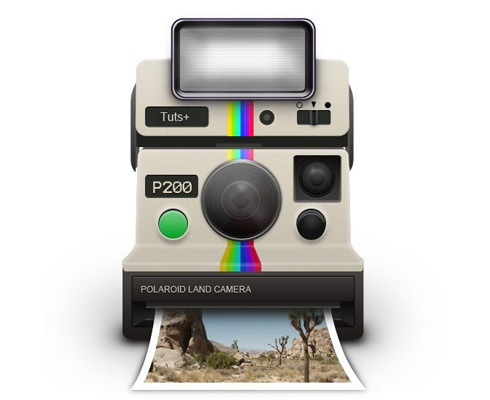 polaroidcamera 40 Best Photoshop Tutorials From 2011