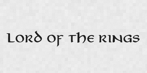 LORDOFTHRINGS 20 Free Fonts Used In Iconic Movies