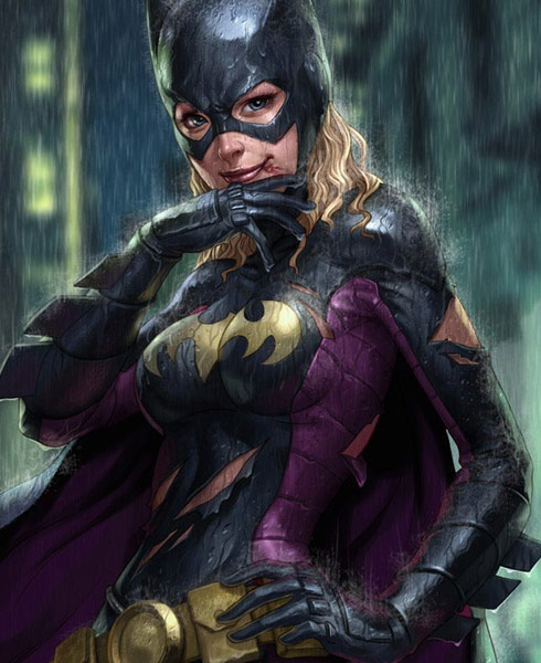 batgirl 40 Spectacular Digital Paintings And Illustrations Of Super Hero's