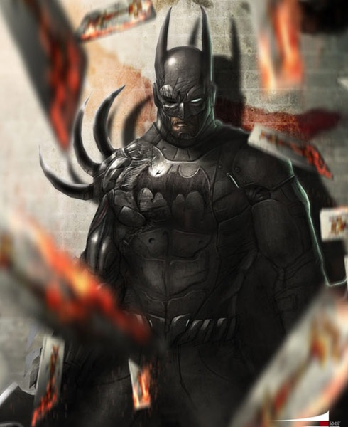 batman 40 Spectacular Digital Paintings And Illustrations Of Super Hero's