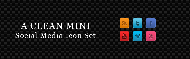 cleanminiconbanner A Clean Mini Social Media Icon Set