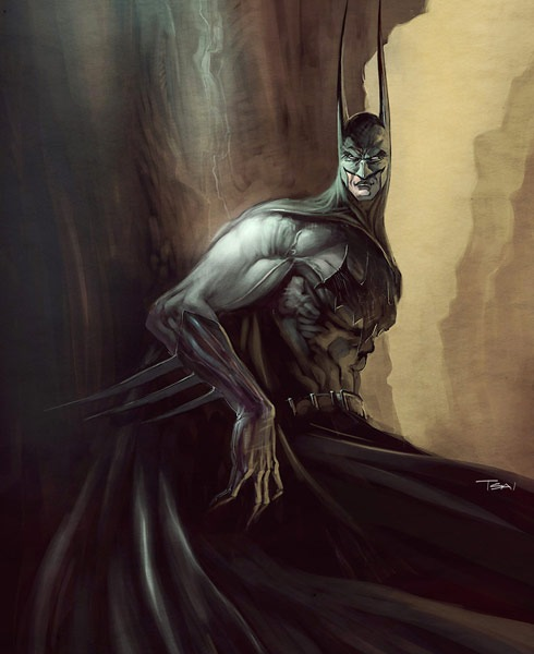 darkbatman 40 Spectacular Digital Paintings And Illustrations Of Super Hero's